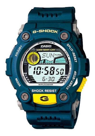 Relógio G-shock G-7900-2dr Azul C/ Tabua De Marés