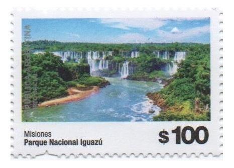 Correo Argentino 2019. Parque Nacional Iguazú. Mint