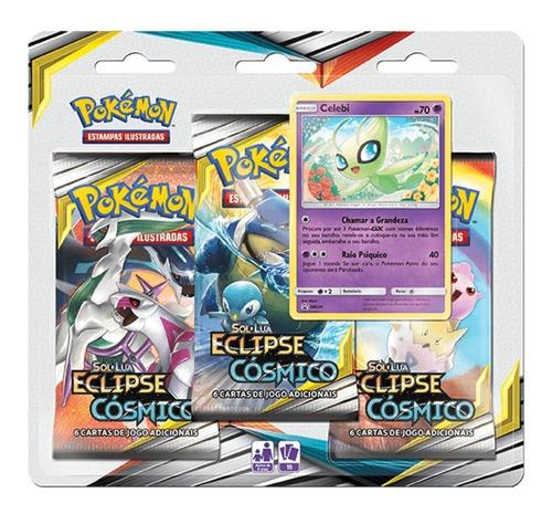 Pokémon Sol Lua 12 Triple Pack Celebi Eclipse Cósmico Cartas