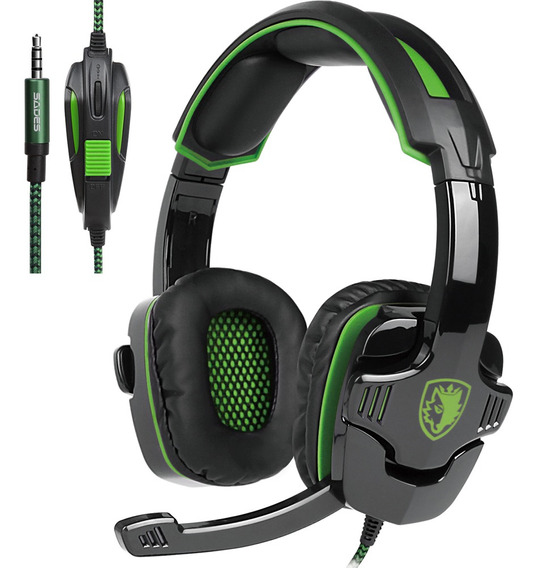 Sades Sa-930 3.5mm Gaming Headsets Com Ruído De Microfone