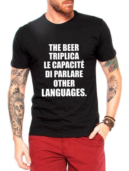 Camiseta The Beer Cerveja Triplica Masculina Frase Engraçada