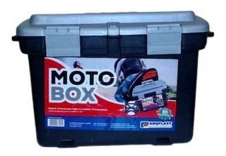 Caixa Moto Box Com Suporte Universal Para Diversas Motos Ideal Para Profissionais Para Transporte De Ferramentas