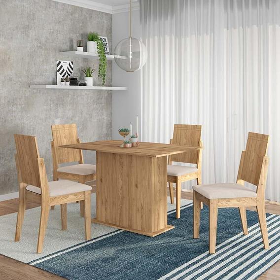 Conjunto Sala De Jantar 4 Cadeiras Cinamomo Catar