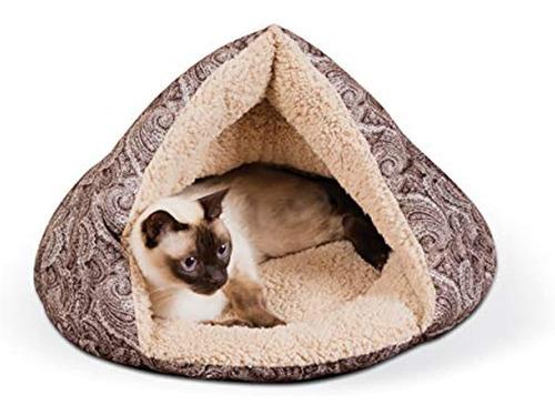 Imagen 1 de 5 de Productos Para Mascotas Kyh Cama Para Gatos Con Cabaña De C