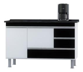 Gabinete Cozinha Luxo 1.20m - Puxador Alumínio