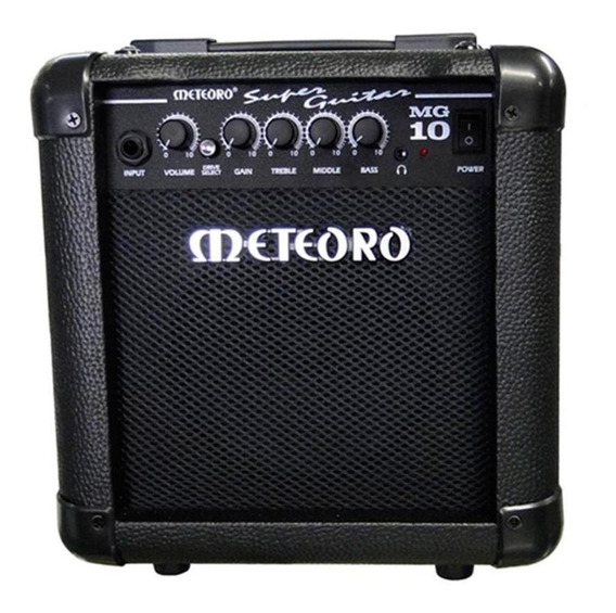Amplificador Meteoro Super Guitar MG 10 10W transistor preto 110V/220V