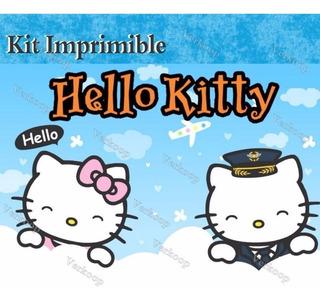 Hello Kitty Pitufina Tarjetas De Invitacion De Cumpleaños En