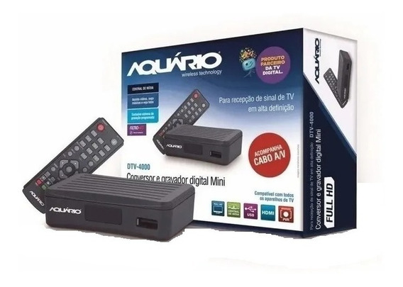 Mini Conversor Digital Aquario De Tv Full Hd Dtv-4000