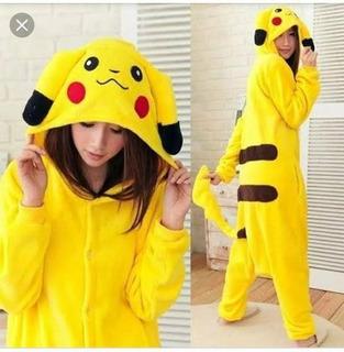 Pijama Pikachu Pokemon Unissex Capuz Macacão Cosplay