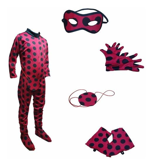 Disfraz Lady Bug Traje Miraculus Personaje Caricatura