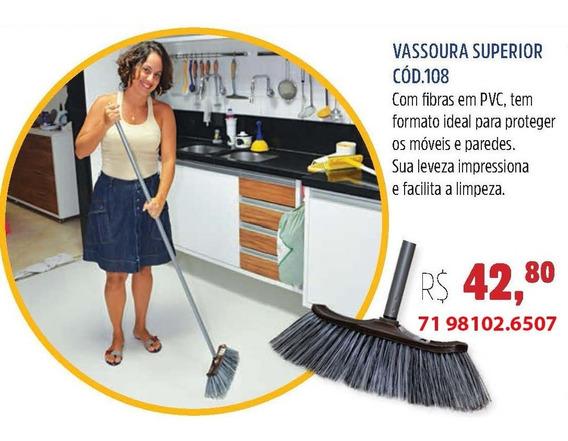 Vassoura Superior Aricasa - Caixa C/03 Unid. Cód.108 S/cabo