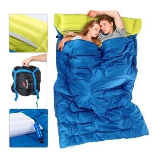 Sleeping Bag Doble Con Almohadas Y Bomba + Envío Gratis
