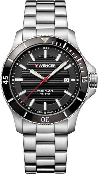 Relógio Masculino Suíço Wenger Seaforce Aço Inox 01.0641.118