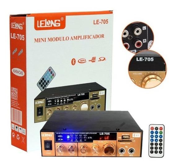 Mini Amplificador De Som Bluetooth Karaoke Le-705 Lelong