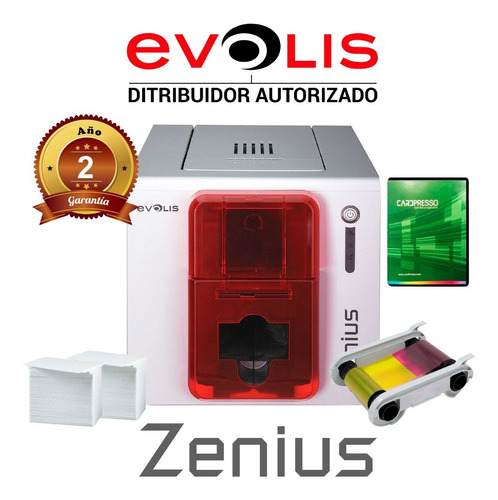 Impresora De Tarjetas Evolis Zenius + Ribbon + Software