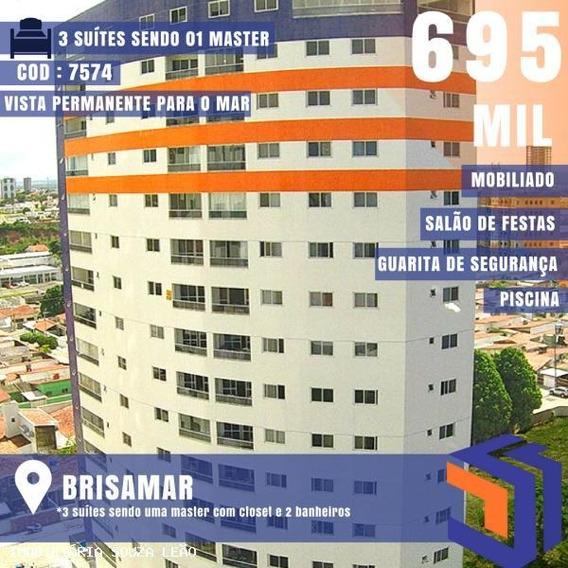 Apartamento Para Venda Em João Pessoa, Brisamar, 3 Dormitórios, 3 Suítes, 1 Banheiro - 7574