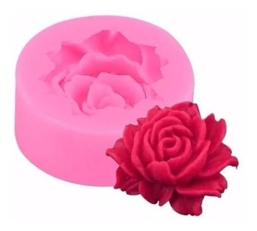 Molde De Silicone Flor 3d Rosa Florzinha
