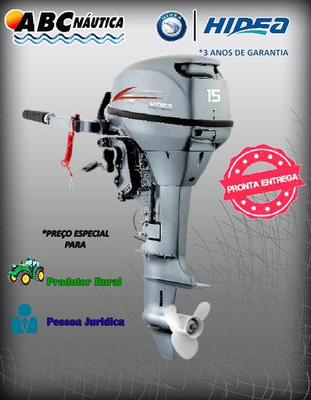 Motor De Popa Hidea 15fhs 15hp - Pronta Entrega!