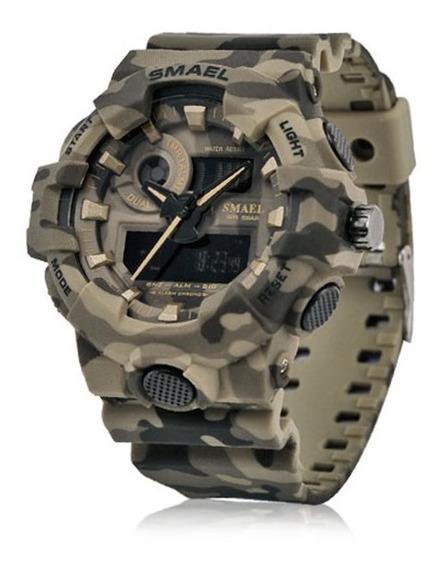Relógio Smael Masculino Militar Resistente A Choque Robusto