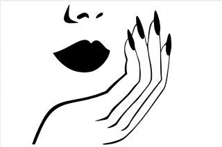 Adesivo Parede Salão Beleza Cabeleireiro Manicure 115x115 Cm