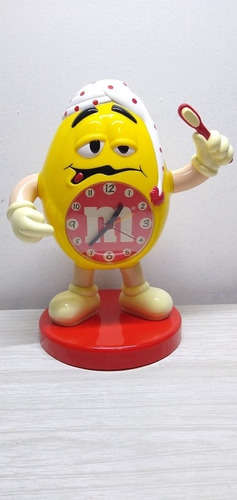 Imagen 1 de 10 de Reloj Souvenir De M&m' Funcionando Alto 27 Cm Ancho 15 Cm