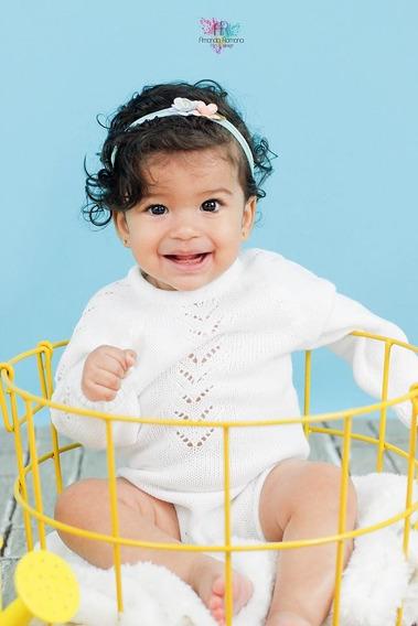 Cesto Aramado Ferro Prop Newborn Acompanhamento Bebê Amarelo