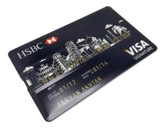 Cartão De Crédito Usb Flash Drive 8g/16g/32g/64g/128g Cartão