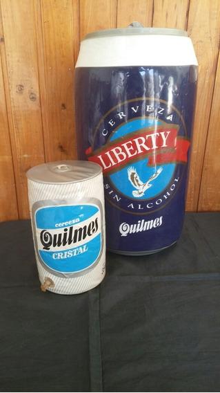 Lote X2 Antiguas Publicidades Inflables Cerveza Quilmes