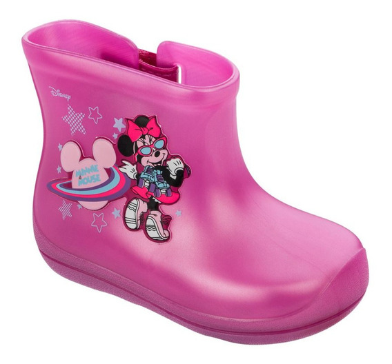 Grendene Disney Friends Galocha 22182 Minnie Bota Borracha