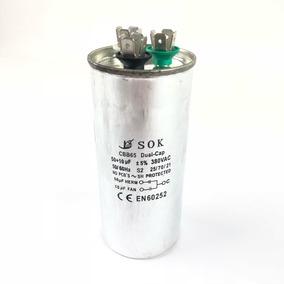 Capacitor Duplo 50uf + 10uf 380 Vac