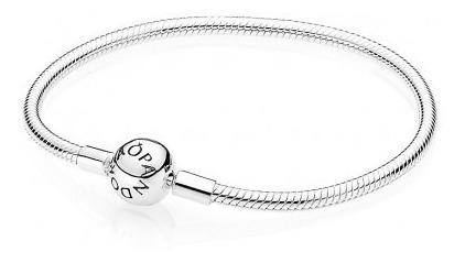 Bracelete Maleavel Fecho Redondo Prata 925 Est Pandora