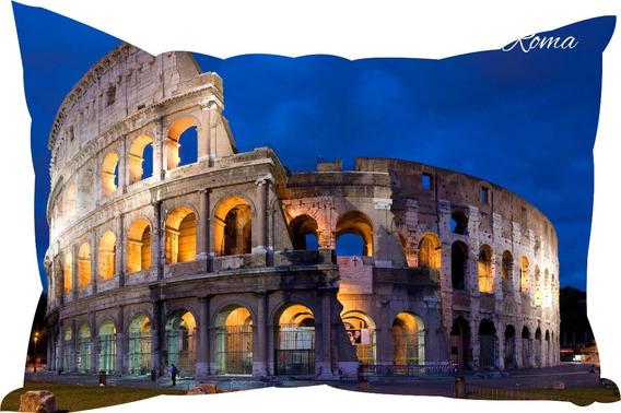 Almofada Roma Italia Cidades Famosas Decore Decoração