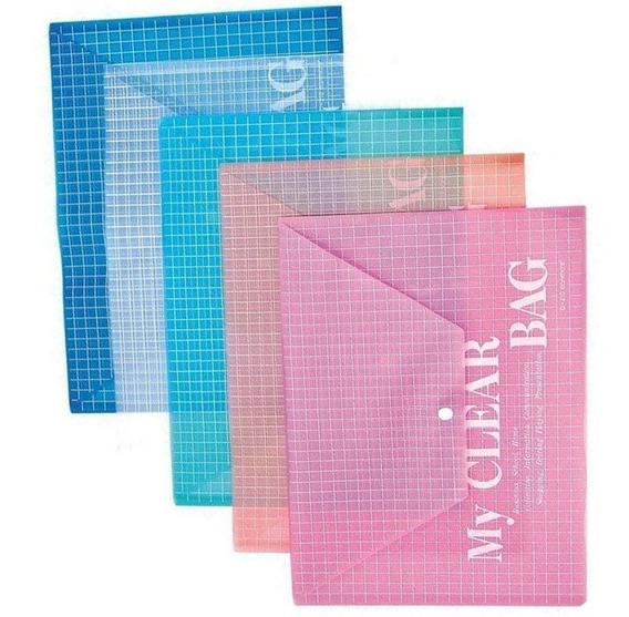 Carpeta A4 Plastico Sobre Con Boton Pack 12 Unidades Colores