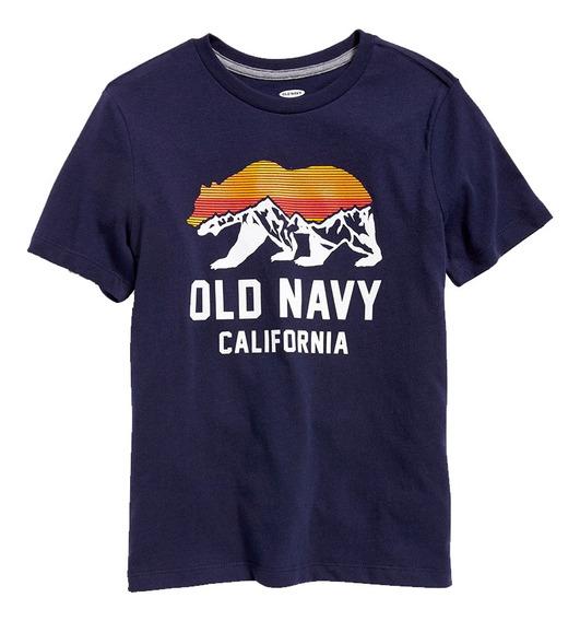 Playera Niño Estampada Cuello Redondo Manga Corta Old Navy