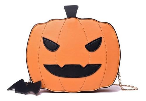 Imagen 1 de 8 de Bolsa Crossbody Moda Diseño Halloween Calabaza Bandolera