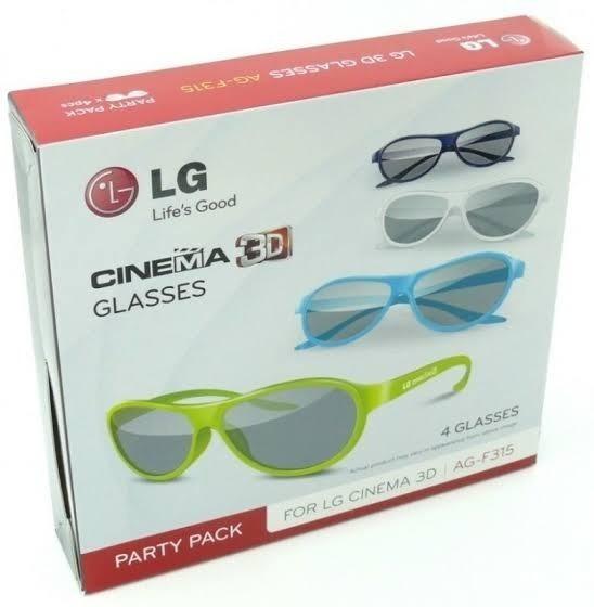 Kit 4 Óculos Cinema Glasses Tv Lg 3d Ag-f315 Original Novo