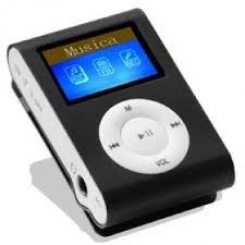 Mini Mp3 Player 4gb Preto Titan Com Display - Frete Gratis