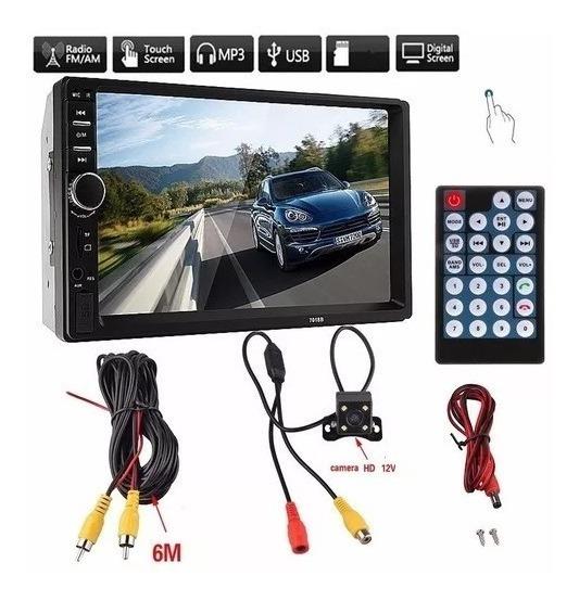 Central Multimidia Bluetooth Usb Mp5 + Câmera De Ré