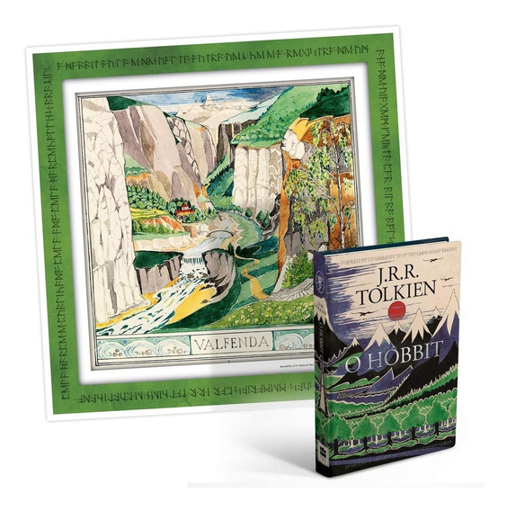 Livro O Hobbit Capa Dura + Pôster - J R R Tolkien