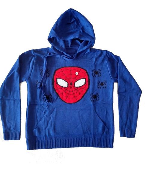 Casaco Blusa Agasalho Lã Com Capuz Infantil Homem Aranha