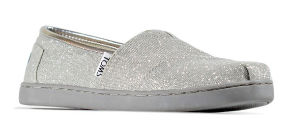 Tenis Toms Classic Silver Glimmer