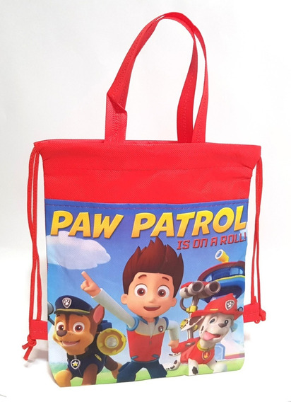 Dulceros Bolsas Paw Patrol Fiestas 30 Pzas Bolos Morralitos