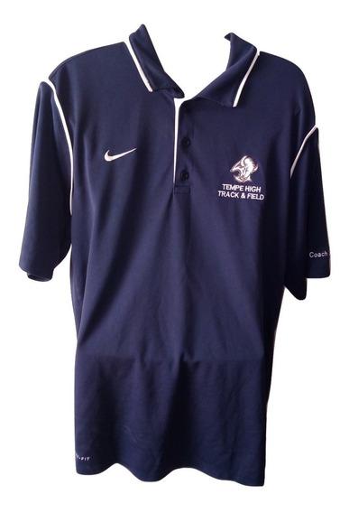 Playera Nike Original Dri Fit Coach Entrenador Colegial Bufalo Seminueva Talla L $399a