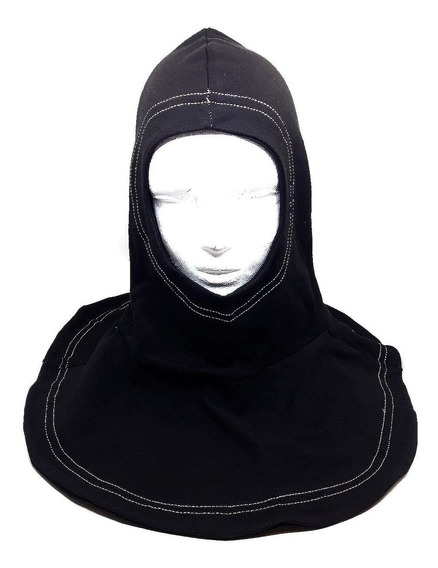 Capucha Ignífuga Monja Retardante Negra