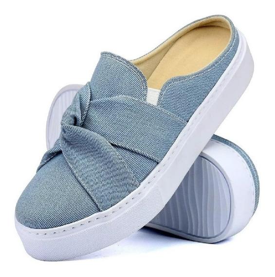 Tênis Casual Babuche Sapaxonadas Slip On Mule Jeans