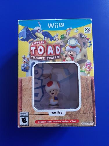 Set Box Amiibo + Juego Captain Toad Nintendo Wii U Nuevo