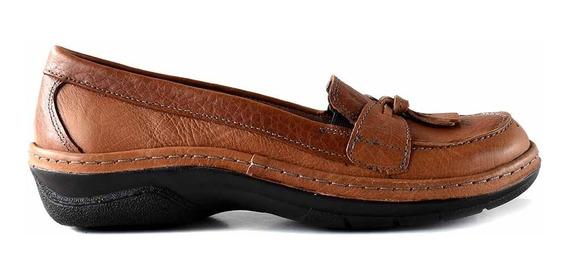 Mocasin Mujer Cuero Briganti Zapato Suela De Goma Mcmo03650