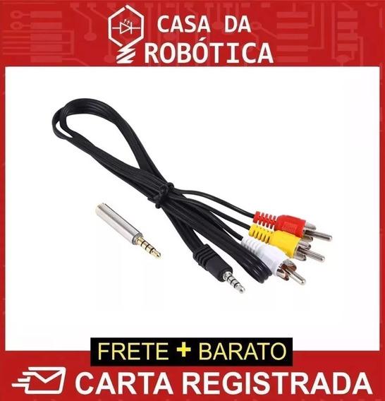 Cabo Av Rca Áudio Vídeo 90cm Para Raspberry Pi Carta Registr