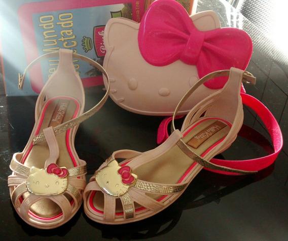 Sandália Hello Kitty + Bolsinha