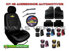Super Kit Capa Banco Carro Couro Automotivo Celta 2012